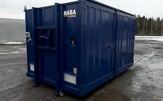 HABA hazardous waste container